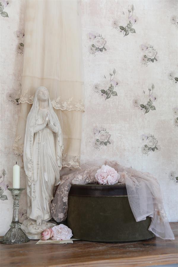 jeanne d arc living tapete blumen jolie molly wohnen im shabby chic stil. Black Bedroom Furniture Sets. Home Design Ideas